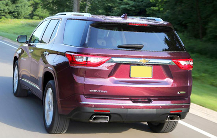 2019 Chevy Traverse rear